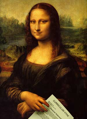 The Mona Lisa with a CV