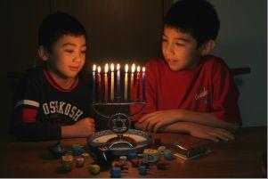 Children celbrating Hanukkah